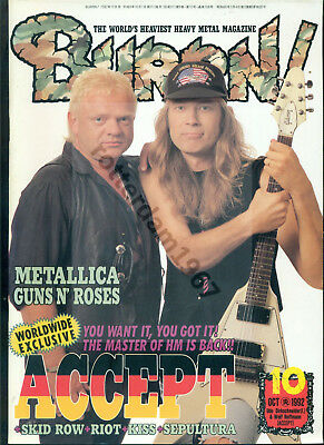Accept / Udo Dirkschneider - Clippings From Japanese Magazine Burrn! 10/1992