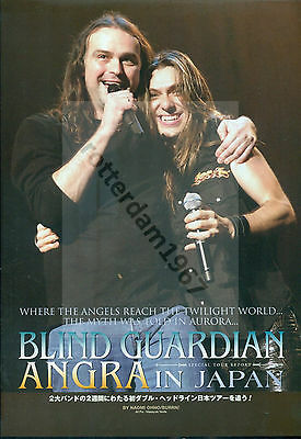 Angra / Blind Guardian - Clippings From Japanese Magazine Burrn! April 2007