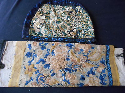 ANTIQUE CHINESE silk embroideries