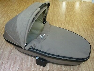 QUINNY FOLDABLE CARRYCOT, brown, 2012 model, compatible with Buzz/Moodd