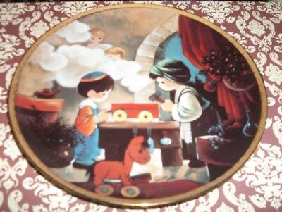 Precious moments bible story plate - carpenter's shop