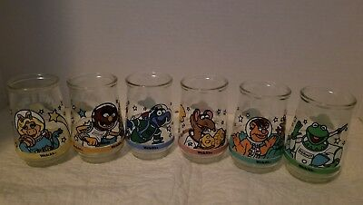 Welch's Muppets in Space Jelly Jar  Complete Set # 1-6