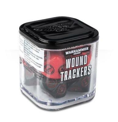 Warhammer 40K - Wound Trackers 8ct - Red & Black - Brand New - Free Shipping
