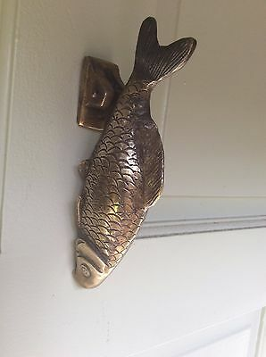 Vintage Brass Fish Door Knocker In Presentation Box (Chub Fish)