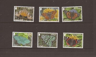 Jersey 2012 Butterflies And Moths Mnh Set Of Stamps