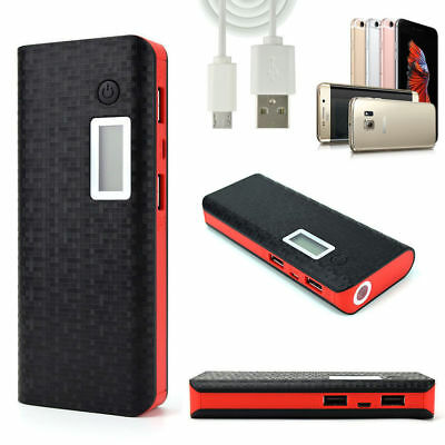 Black & RED 100000mAh PowerBank PackPortableUSB Battery Charger IPHONE 8, X