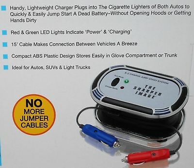 The Sharper Image E-Z Charge Jump Start System NEW