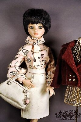 "OOAK  outfit for Tonner Ellowyne Wilde Body 16"" dolls"