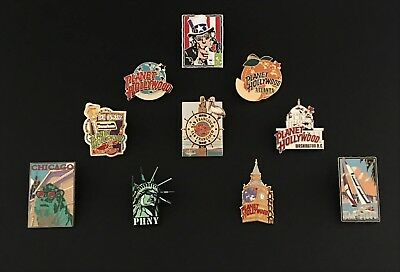 Planet Hollywood Assorted Pin Lot Of (10) Total In Excellent Used Condition Nice