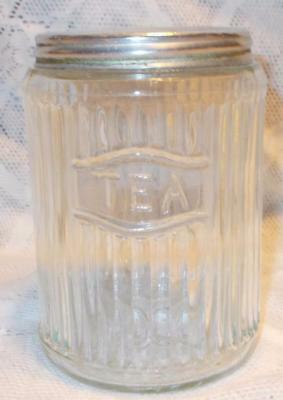 Antique Sellers Hoosier Cabinet Spice Tea Jar Canister Vintage