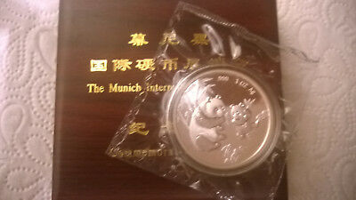 "China 1997 Silber PP ""SHOWPANDA MUNICH"" BOX ZERTIFIKAT DOUBLE SEALED RAR"