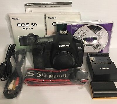Used Canon EOS 5D Mark II 21.1MP Digital SLR Camera - Black Body Only 2764B003