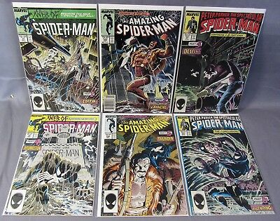 KRAVEN'S LAST HUNT Amazing Spider-man 293-294, Web of 31-32, Spectacular 131-132