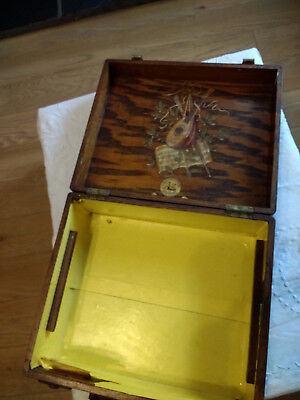 Vintage Antique 1900s Wooden Gramophone Portable Empty Case