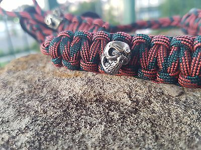 Archery Bow Sling 550 Paracord - Rust camo + 2 zipper pulls MADE TO ORDER