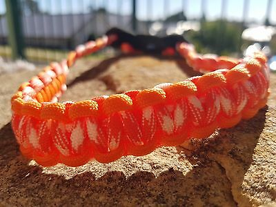 Archery Bow Sling 550 Paracord Orange camo and orang  + skulls   +3 zipper pulls