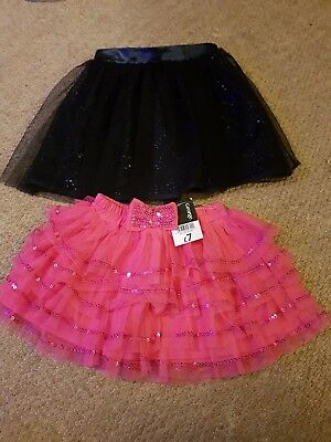 2 sparkly sequin baby girls party tutus. 9-12 months. One BNWT. Mini Club and...