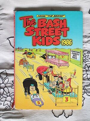 The BASH STREET KIDS 1986 Unclipped Collectable HB Book VGC