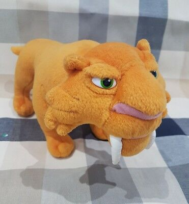 """Ice Age Diago Sabre Tooth Tiger LARGE  soft toy plush 12"""" long New"""