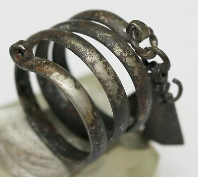 OLD Twisted  SILVER finger ring GREAT CONDITION