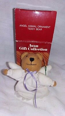 Avon Gift Collection Angel Animal Ornament Teddy Bear 1987