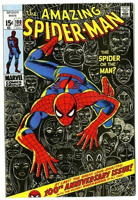 Amazing Spider-Man #100 VF/NM 9.0 ow/white pages  Anniversary  Marvel  1971