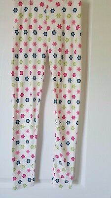 New w/ Tag! Gymboree, Girls, White with Multicolor Flowers, Leggings! Size 9!