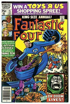 Fantastic Four Annual #15 NM- 9.2 white pages  vs. The Skrulls  Marvel  1980