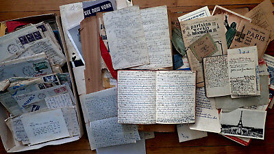 CIRCA 1948 HANDWRITTEN DIARY TRAVEL BY BICYCLE ACROSS EUROPE FEMALE AUTHOR 40pp
