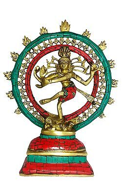 """SALE"" Dancing Shiva Bronze Stone Mosiac Statue Rhythm of Life, Dance & Arts 1Kg"
