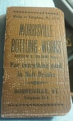1910- 1911 Morrisville Note Tablet - VERY VERY RARE- 2 1/2 X 4 1/2.