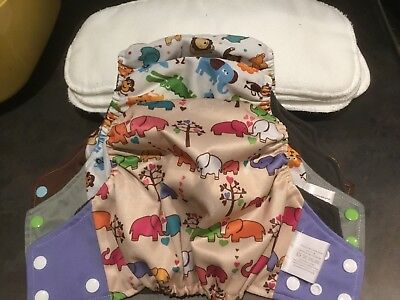 Reusable Nappies X3 And 6 Liners- By Simply Babies Online