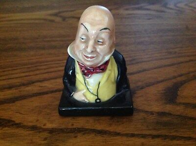 """Royal Doulton Dickens Series Figurine Bust  Micawber 2 1/2"""""""