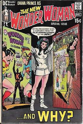 Wonder Woman #191 (Nov-Dec 1970, DC) WHEN & WHY the change to the NEW