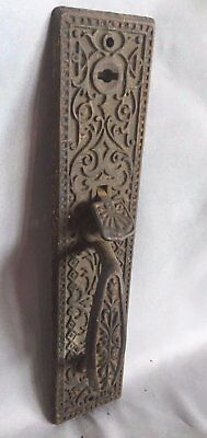 Antique Thumb latch Door Handle pull Old  Cast Iron Vtg Eastlake  296-17J
