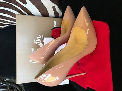 Louboutin So Kate Nude 120 mm Patent Size 42 Pumps New