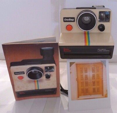 Polaroid SX-70 Rainbow OneStep Sears Special Instant Camera +User Manual TESTED
