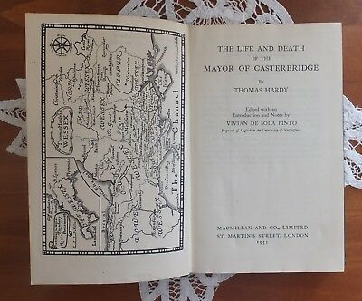 """Vintage Book """"The Mayor of Casterbridge"""" by Thomas Hardy 1950s"""