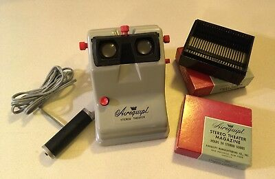 Airequipt Stereo Theater.  3D Slide Viewer With 2 Slide Magazines.