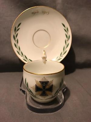Meissen Germany WWI 1914 Star of the Grand Cross with Laurel Cup and Saucer EXC