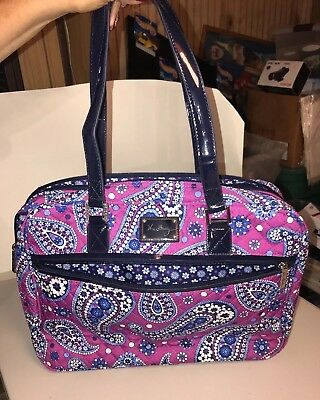 "Vera Bradley Paisley 15""Laptop Computer Soft/Case Shoulder bag  Super Mint"