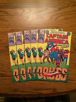 Captain America Goes To War Against Drugs #1 5 Copies First Print 1990 NM- Avg