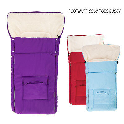Universal Wool Footmuff Cosy Toes Fit Car Seat Buggy All Puschair Accessories Uk
