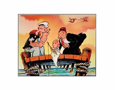 Thimble Theater presents Popeye the Sailor man King Features vintage sericel