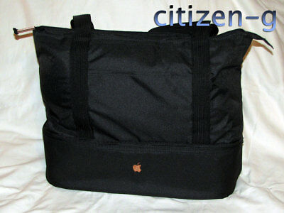 APPLE INC Employee Exclusive Cooler Tote Bag: Black Insulated with Bronze Logo