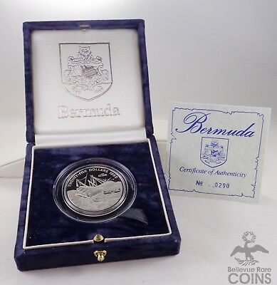 1988 Bermuda The Wreck of the San Antonio 1621-1oz .999 Fine Palladium Proof