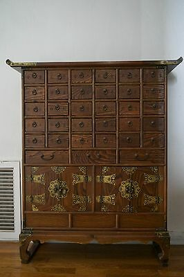 Vintage Turn of the Century Chinese Apothecary Medicine Herbal Display Cabinet