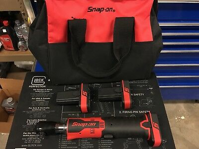 """Snap-on 1/4"""" Cordless Ratchet 14.4v CTR725A W/2 Batteries And Bag"""