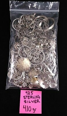 Nice Clean Lot Of Scrap 925. Sterling Silver Jewelry 410 Grams