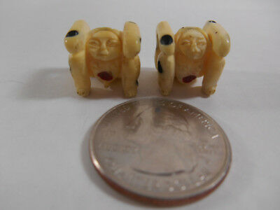 Vintage Erotic Chinese/Japanese Carved NETSUKE DICE Nude Man & Woman Risque